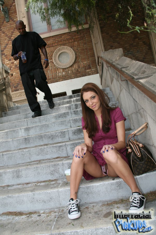 Stephanie Cane sitting on the steps