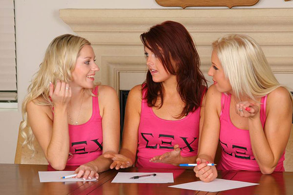The sorority board consists of three beautiful ladies